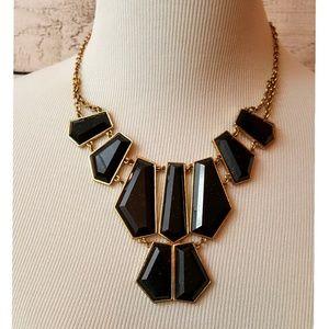 "Jewelry - Statement Necklace--Black/""Gold"""